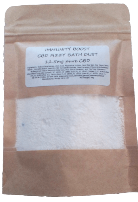 Immunity Boost CBD Hemp Oil Aromatherapy Fizzy Bath Dust - 12.5mg